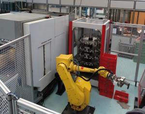 Robot polyarticulé Erowa - dressage des ébauches