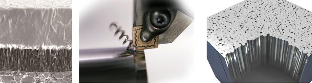 • Technologie de nano-revêtement • La solution ultime contre l'usure en cratère et contre l'usure de dépouille • L'interface entre les couches est contrôlée à l'échelle nanométrique permettant à la couche TOUGH Grip d'atteindre des niveaux d'adhésion extrêmement élevés et d'éviter ainsi tout délaminage