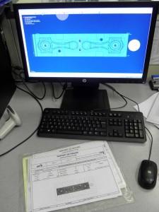 Visualisation sur l'écran et protocole de mesure en moins d'une minute de la précision réelle de la pièce.