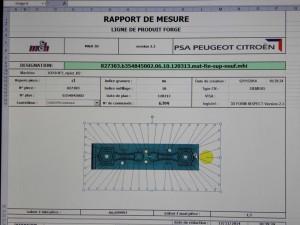 Le protocole de mesure est sauvegardé et utilisé pour la documentation de la production