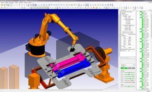 La cellule robotique Kuka de MétalFormage modélisée dans le logiciel almaCAM Weld d'Alma