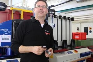 Patrik Rutishauser, responsable application engineering, est convaincu par les mandrins et les machines de frettage de Haimer