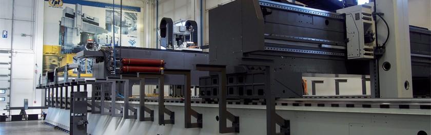Chaîne d'assemblage de machines de très grandes tailles pour l'aéronautique et la mécanique générale