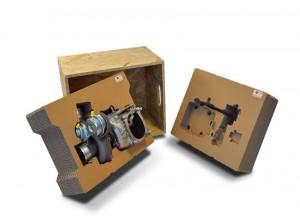 Image logiciel et Emballage Pack&Strat, pièce de Veyron, réalisés chez BUGATTI