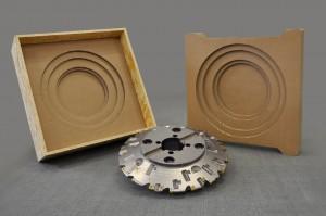 Exemple d'emballage Pack&Strat d'une fraise spéciale SECO de diamètre 500 mm - calage carton