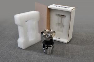 Exemple de l'emballage Pack&Strat d'une fraise SECO dans un nouveau matériau recyclable